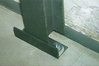 i-beam basement wall support